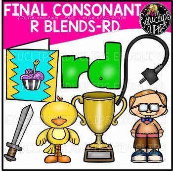 Final Consonant Blends R- Clip Art Bundle {Educlips Clipart}