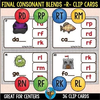 Final Consonant Blends -R- Clip Cards