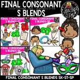 Final Consonant Blends S- Clip Art Bundle {Educlips Clipart}