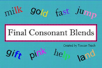 Final Consonant Blends SMARTBoard Activities
