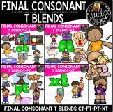 Final Consonant Blends -T Clip Art Bundle {Educlips Clipart}
