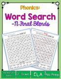 Final Consonant Blends Word Search