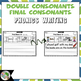 Final Consonant Blends and Double Consonant Endings Writing Printables