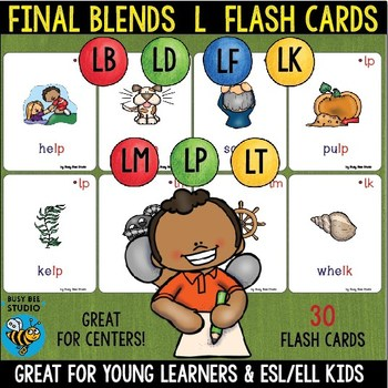 Final Blends Flash Cards ( -lp -lt -lm -lk -ld -lf -lb)