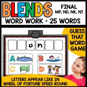 Final Consonant Blends (mp, nd, nk, nt)