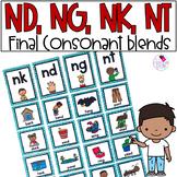 Final Consonant Blends nk, ng, nd, nt Ending Sounds