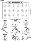 Final Consonant Blends - nt Word Search (Ending Blends Worksheet)