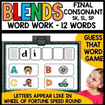 Final Consonant Blends (sk, sl, sp)