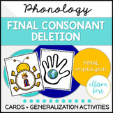 Final Consonant Deletion Phonology for Speech Therapy