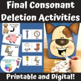 Final Consonant Deletion Activities   Feed the Dog Minimal