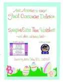 FREEBIE! Final Consonant Deletion Activities for Easter/Spring