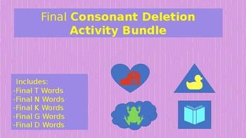 Final Consonant Deletion Activity Bundle