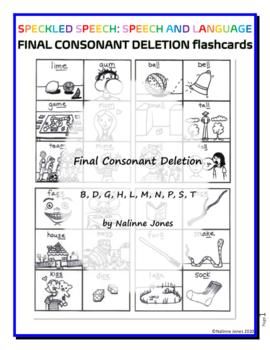 Final Consonant Deletion - Word Endings B, D, G, K, L, M, N, P, T - Flashcards