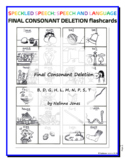 Final Consonant Deletion - Word Endings B, D, G, K, L, M, N, P, T - Flashcards