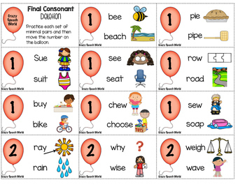Final Consonant Deletion Game for Speech Therapy!