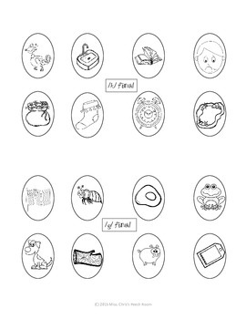 Final Consonant Deletion Easter Egg HUNT {Speech - Articulation}
