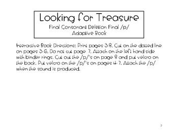 Final Consonant Deletion Final p Adaptive Book