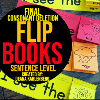 Final Consonant Deletion {Flip Books}