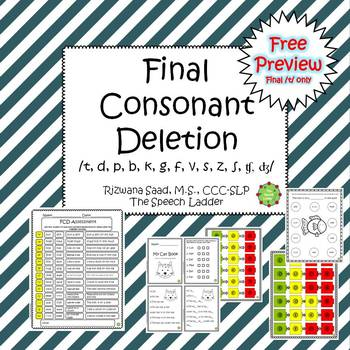 Final Consonant Deletion Free Preview