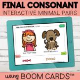 Final Consonant Deletion Interactive Minimal Pairs | Boom Cards™