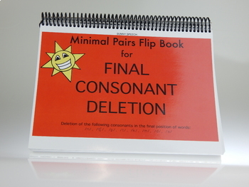Final Consonant Deletion: Minimal Pair Flip Book Game