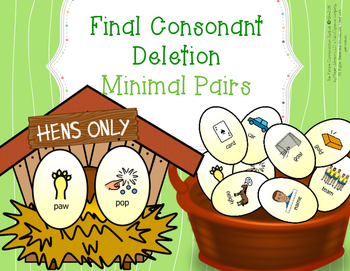 Final Consonant Deletion 92 Minimal Pairs