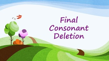 Final Consonant Deletion Minimal Pairs