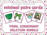 Final Consonant Deletion - Minimal Pairs Cards