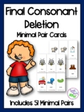 Final Consonant Deletion Minimal Pairs Cards
