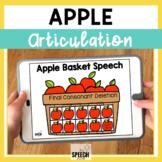Apple Final Consonant Deletion No Print Articulation Activity