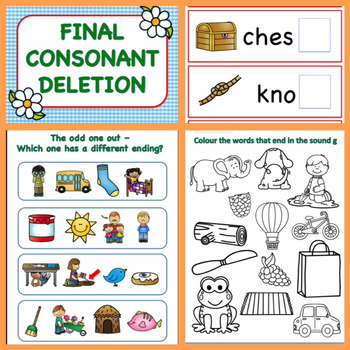 Final Consonant Deletion Pack