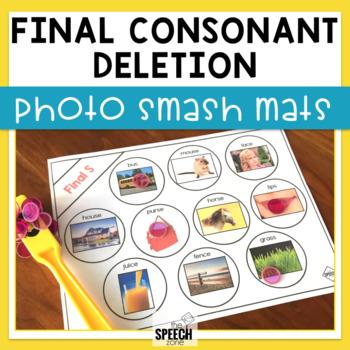 Final Consonant Deletion Photograph Smash Mats