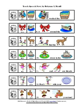 Final Consonant Deletion Practice in Words and Sentences