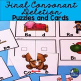 Speech Therapy Final Consonant Deletion Puzzle Cards