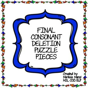 Final Consonant Deletion Puzzle Pieces