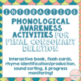 Interactive Phonological Awareness Activities for Final Co
