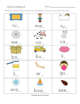 Final Consonant Deletion Word and Picture Sorts