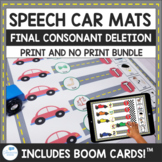 Final Consonant Deletion and CVC Speech Car Mats Print and No Print