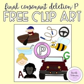 Final Consonant Deletion /p/ Minimal Pairs Clip Art - 20 images {FREEBIE}