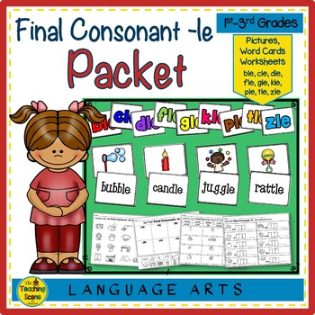Final Consonant -le Packet:  Letters, Pictures, Words & Worksheets