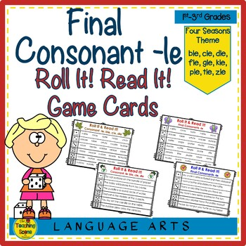 Final Consonant le Roll It! Read It! Game Cards