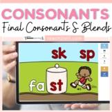 Final Consonants S Ending Blends Boom Cards