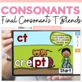 Final Consonants T Ending Blends Boom Cards