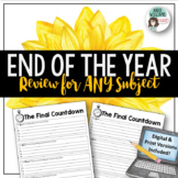 End of the Year Review Activity for ANY Subject