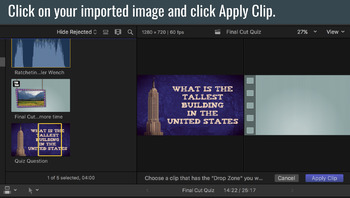 Final Cut Pro X Quiz Question Template