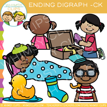 Final Digraph Clip Art: CK Words