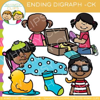 Final Digraph Clip Art: CK Words