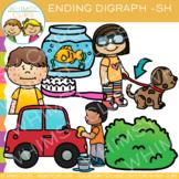 Final Digraph Clip Art: Sh Words