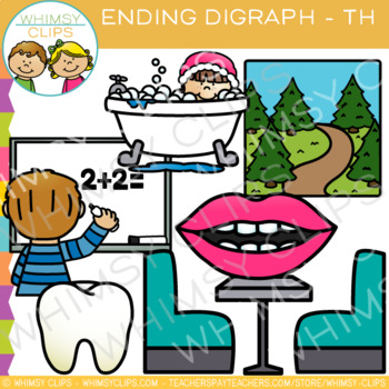 Final Digraph Clip Art: Th Words