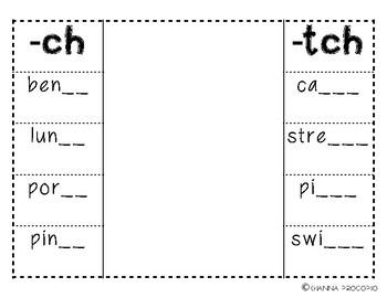 {CCSS.ELA-Literacy.L.2} Interactive Final Digraph Foldable (-ch, -tch)
